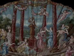 Eventail Louis XIV,  illustrant les fêtes de Flore. (1606)